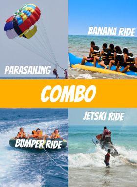 5 Watersports Combo - Parasailing, Banana, Bumper and more