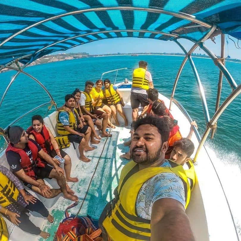 goa watersports combo - speed boat ride