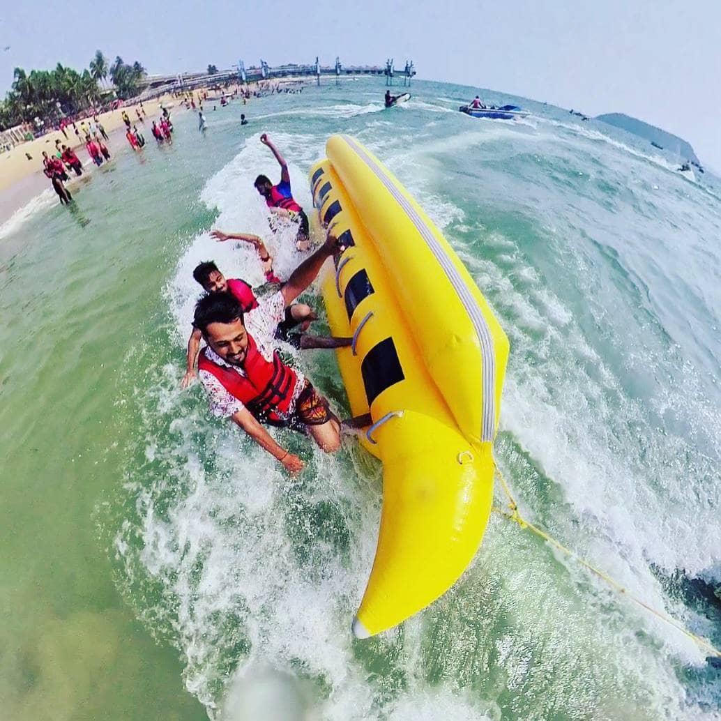 goa watersports combo - banana ride