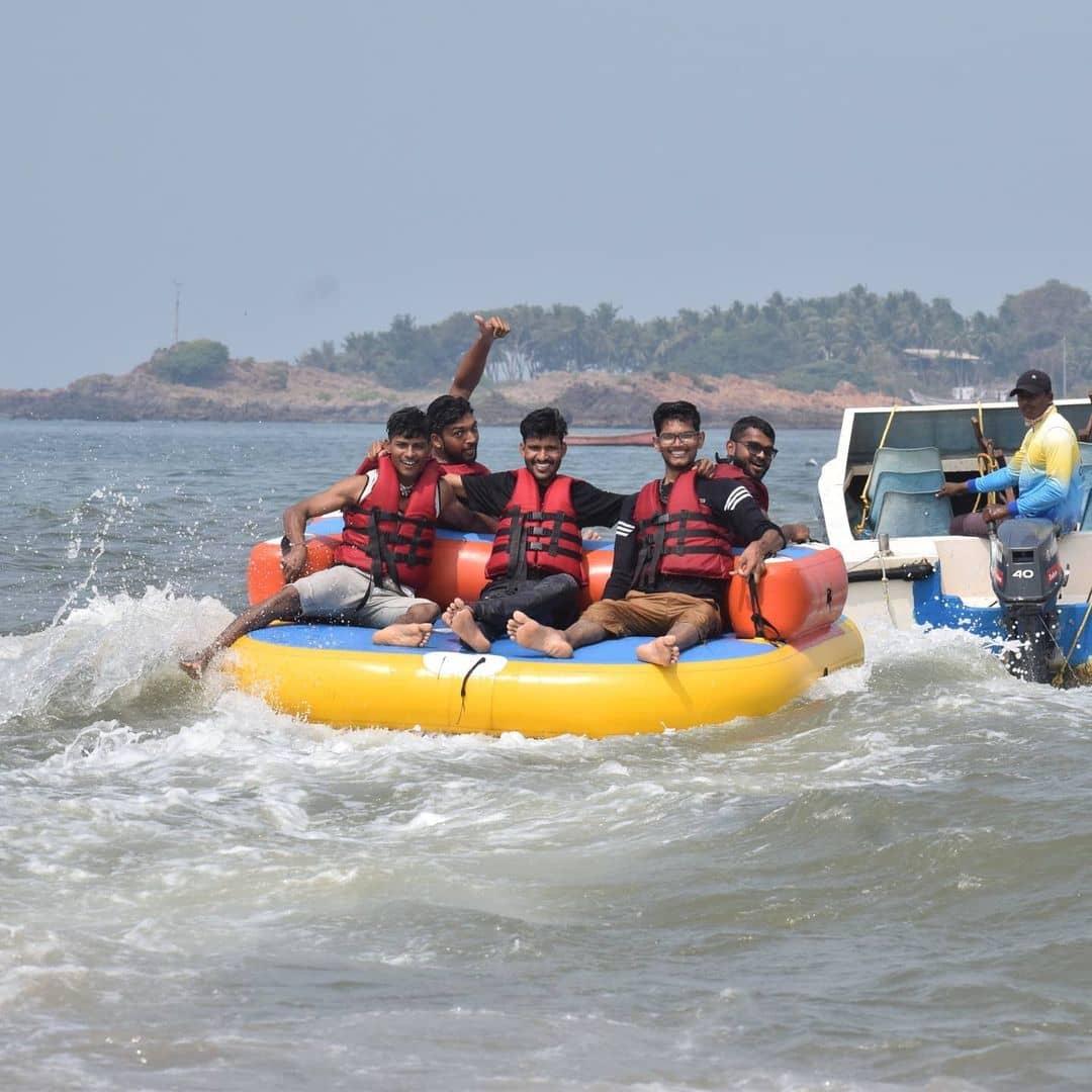 bumper ride at baina beach goa