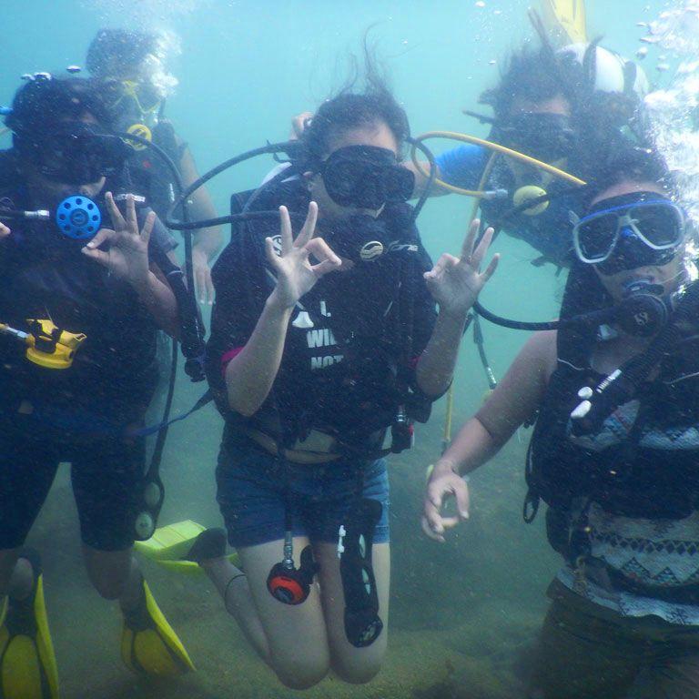 Scuba Diving at Fort Site, Baina Beach South Goa